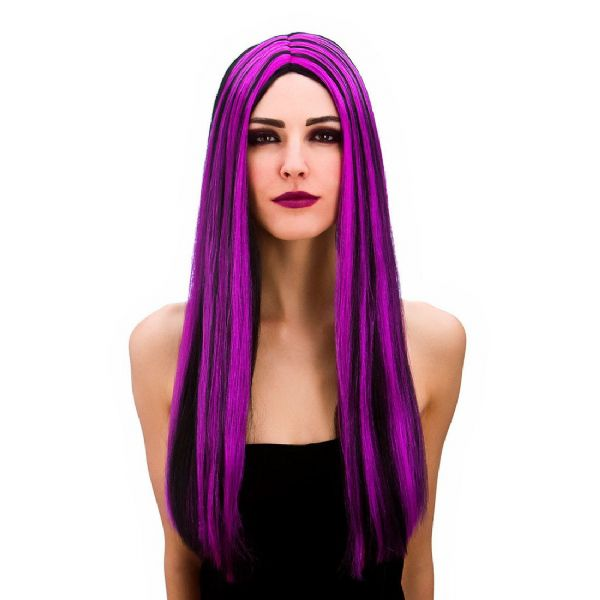 Bewitched Black and Purple Wig